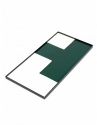 Tablett Holz Grun