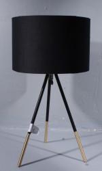 Tischleuchte schwarz, dreibeinig