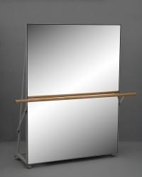 Fahrbare Spiegelwand / Tanzspiegel