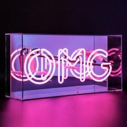 'OMG', Neonschrift