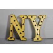 """Leuchtbuchstabe """"N & Y"""""""