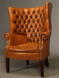 Sessel Chesterfield Wingchair - 19. Jahrhundert