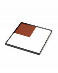 Tableau Holz Weiß-Rot
