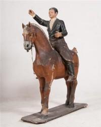 Alte Figur eines Reiters auf Pferd, José Canovas Pujalte