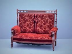 Antikes Sofa, rot