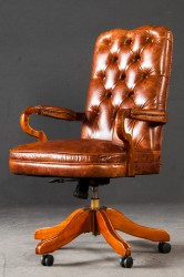 Chefsessel in Chesterfield Art Deco Stil