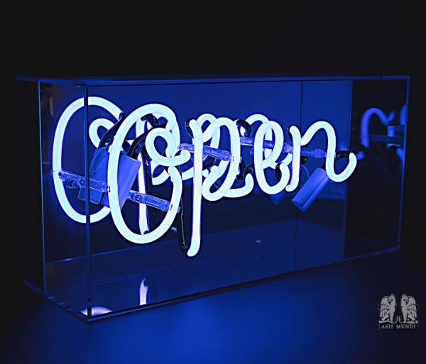'Open', Neonschrift
